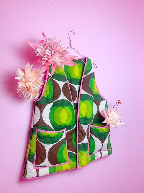 Seventies Dream - ReMade short Vest