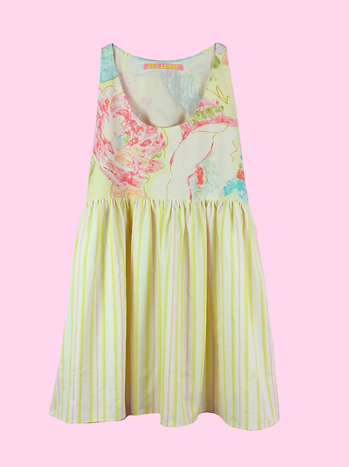 Candy stripes - POP ON PINAFORE DRESS - 01