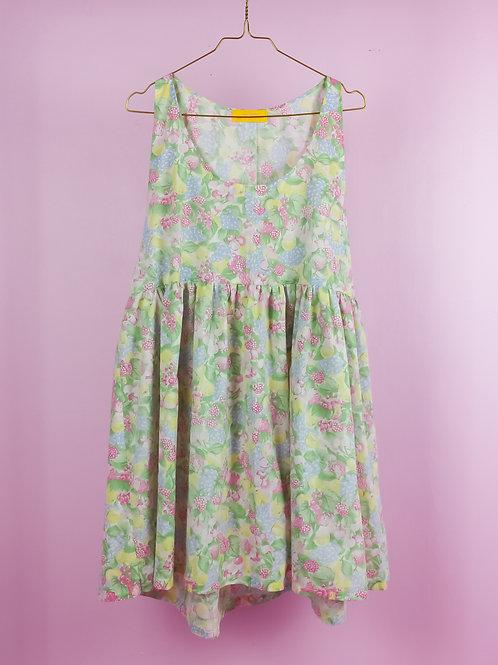 Pastel berries - POP ON PINAFORE DRESS -S/M