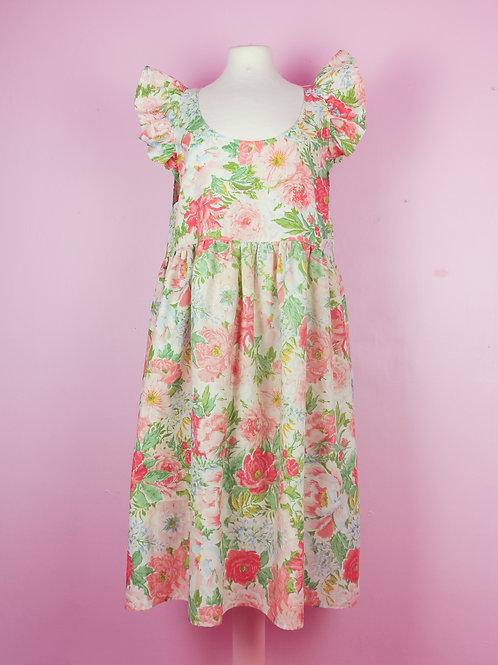 Flower Field - POP ON PINAFORE dress L/XL