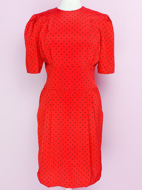 Little Mrs Ladybug - Vintage Dress S