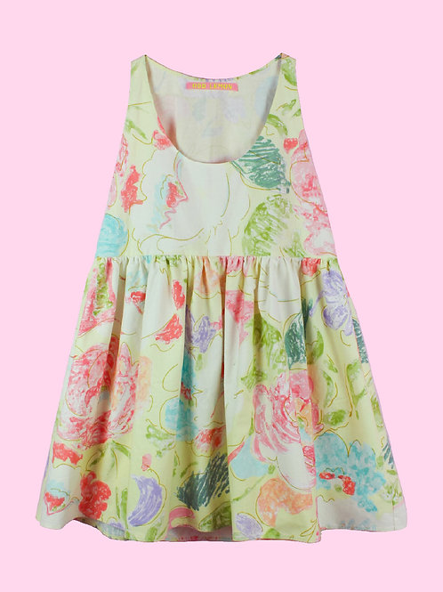 Abstract pastels - POP ON PINAFORE DRESS -01