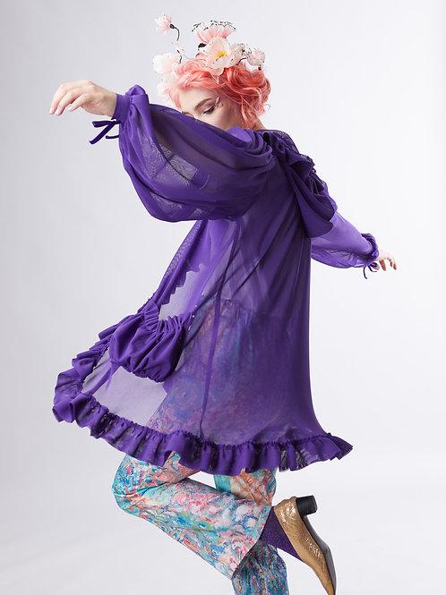 Peony cloud coat - Purple