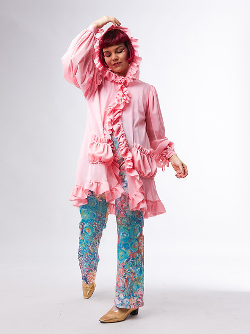 Peony cloud coat - Soft pink