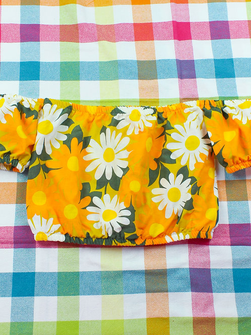 Sun flowers - Cutoff Summer Top - 02