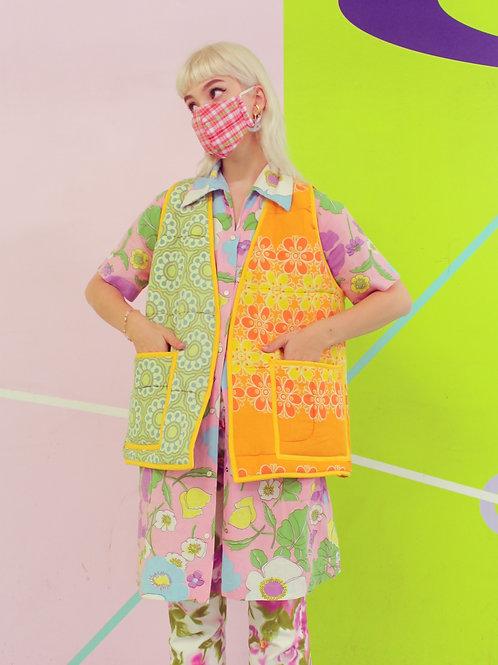 Flower patchwork - ReMade short Vests