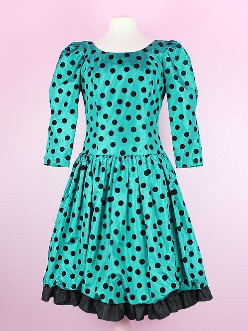 Polka Dot Dream - Vintage Dress - M