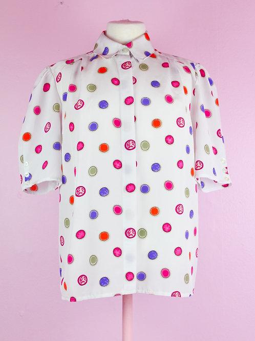 Dot dot dot - Vintage shirt - L