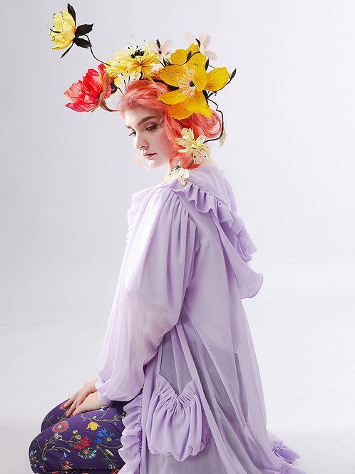 Peony cloud coat - Soft lilac