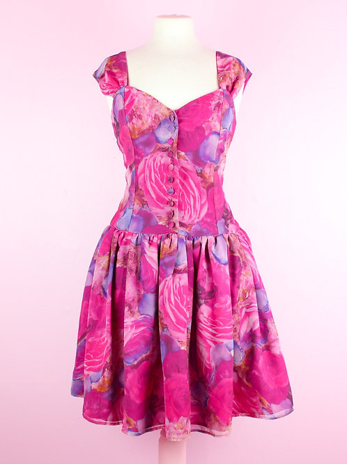Rosey dream - Vintage Dress -S