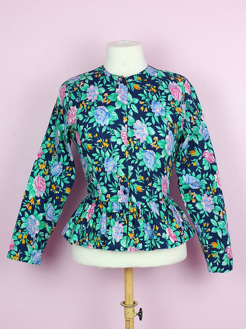 Rose garden - Vintage peplum Top