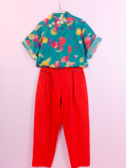 Red - Vintage Trousers- S/M