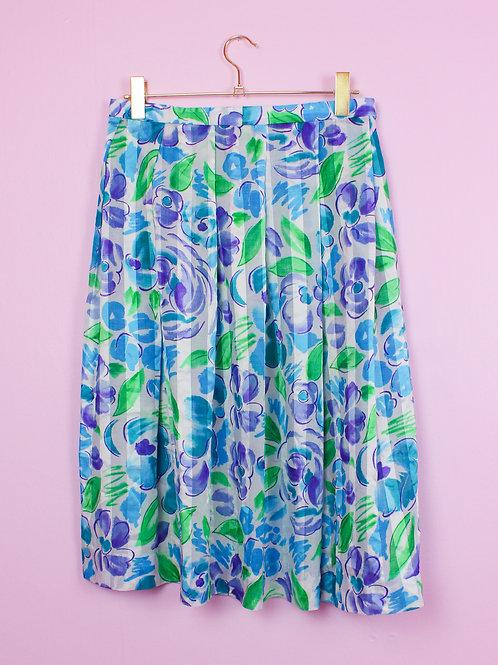 Blue flowers - Vintage skirt