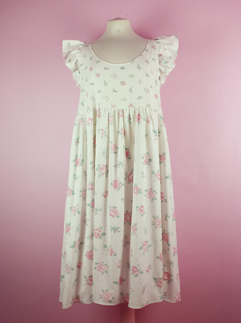 Romantic rose - Frilly POP ON pinafore - S/M