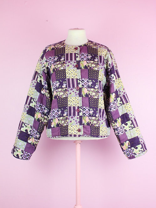 Quilted purple - Vintage jacket L
