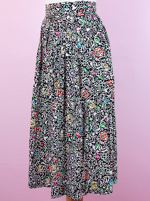 Doodles - vintage skirt - S