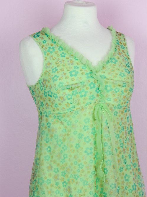 Green frills - Vintage Top