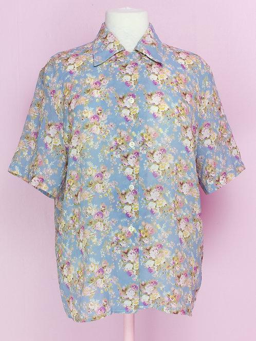 Romantic Flowers - Vintage shirt - S/M