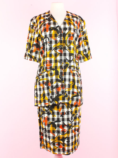 Graphic coolness - Vintage two piece -  L/XL