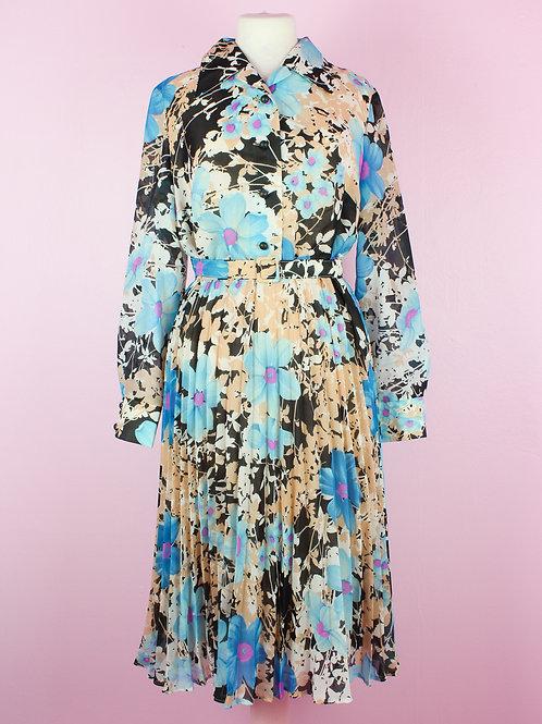 Pleated beauty - Vintage Dress - M
