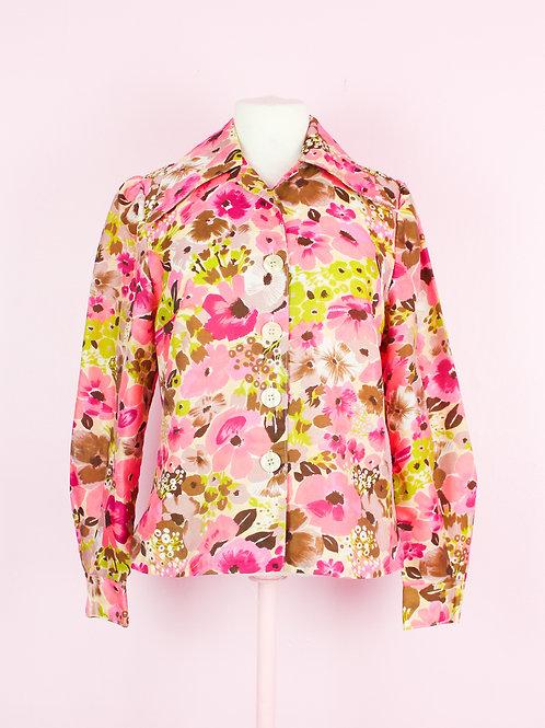 Flower Power - Vintage Shirt - S/M