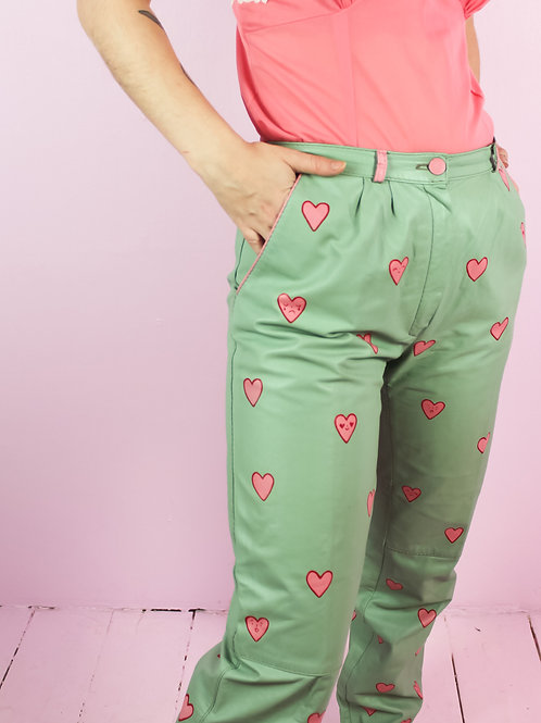 Love is a lot- pants - Painted remade