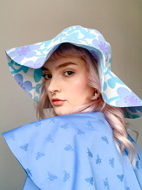 Blue flowers Hat - ReMade