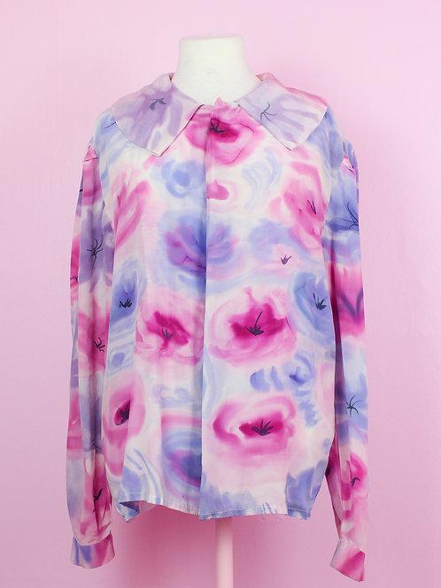 watercolor roses - Vintage shirt