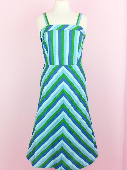Miss Stripy - Vintage Dress - S