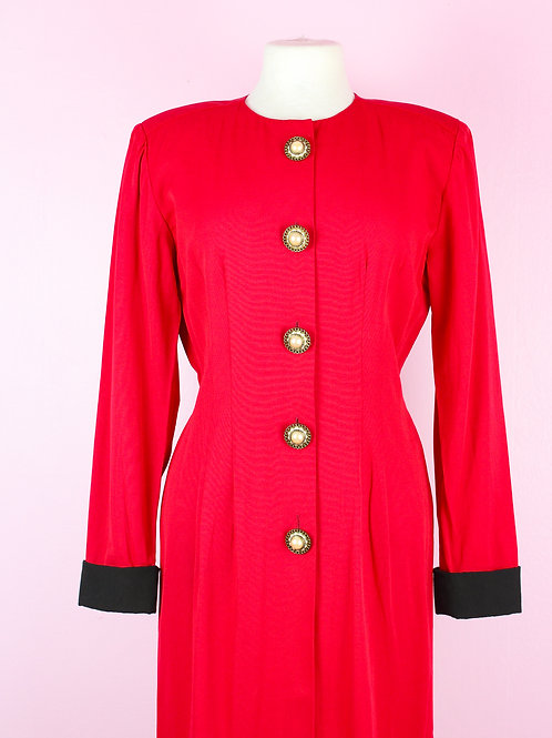 Red Business - Vintage Dress - M