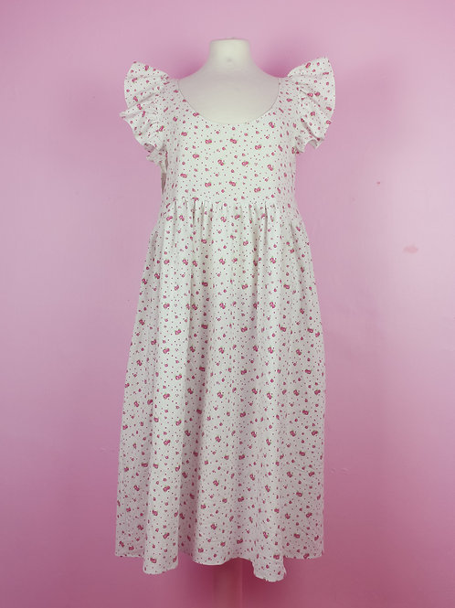 Flower cuteness - POP ON Pinafore dress S/M