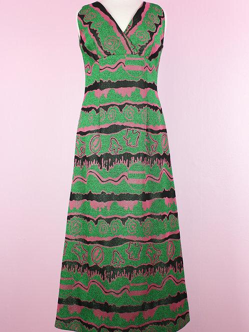 Green glitter - vintage dress