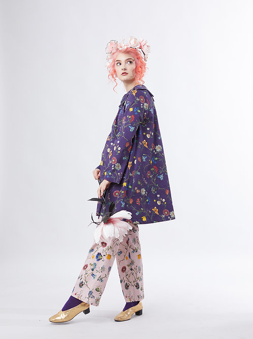 Bellflower tunic - Dark flowers