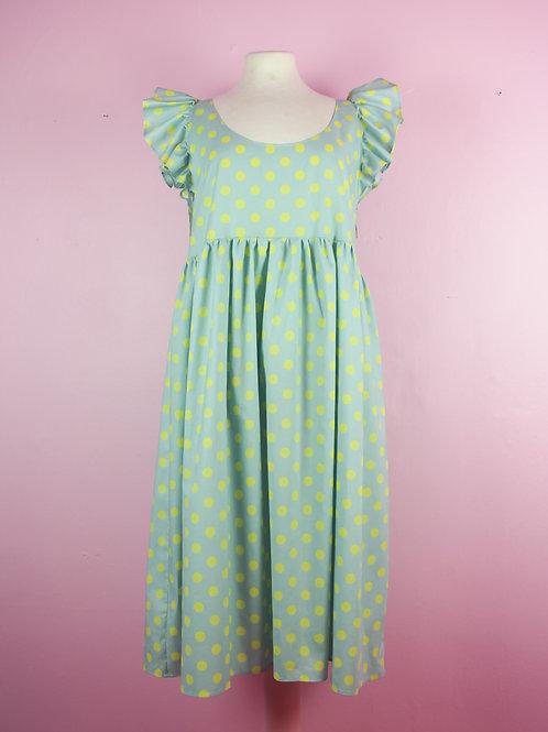 Dotty daze - Frilly POP ON Pinafore dress