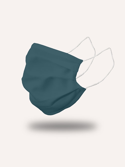 "Masque ""le Trendy"" bleu canard - Pack de 2"