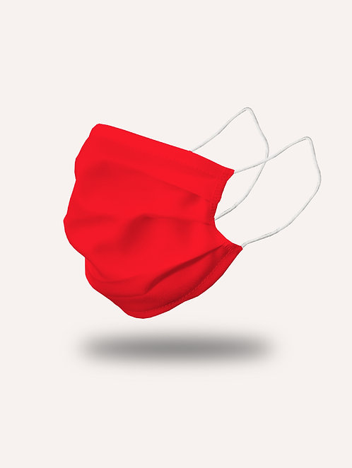 """Masque """"le Trendy"""" rouge passion - Pack de 2"""