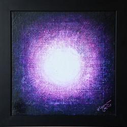 č.396,Tajemství světla - mandala, 2020, olej na plátně, rozměr plátna 35 x 35 cm, cena obrazu s rámem 5 000,- Kč