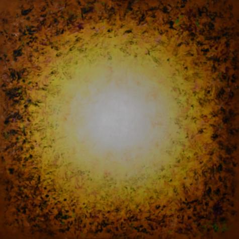 č.377, Sahara - mandala, 2020, olej na plátně, rozměr plátna 100 x 100 cm, cena obrazu bez plátna 20 000,- Kč
