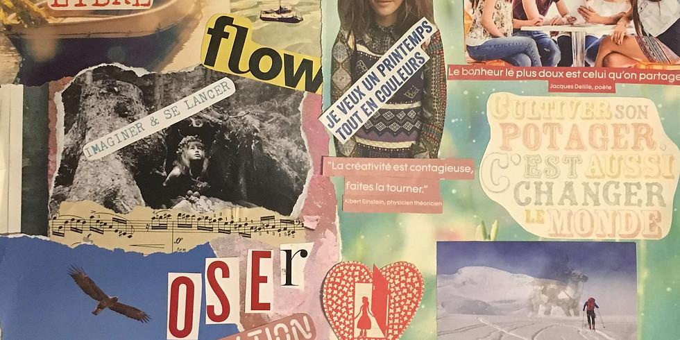 Démonstration des ateliers: Journal créatif et SoulCollage.