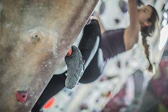 Close Up Wall Climbing