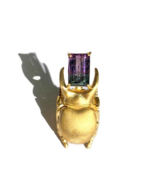 Anel Escaravelho Rei Turmalina Unreal