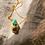 Thumbnail: Colar Amuleto Escaravelho Esmeralda