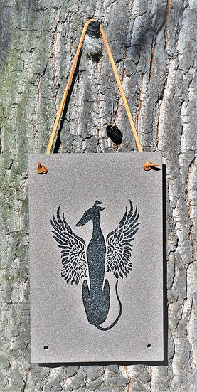 Galgoengel, Windhund Engel, Grabplatten für Windhunde