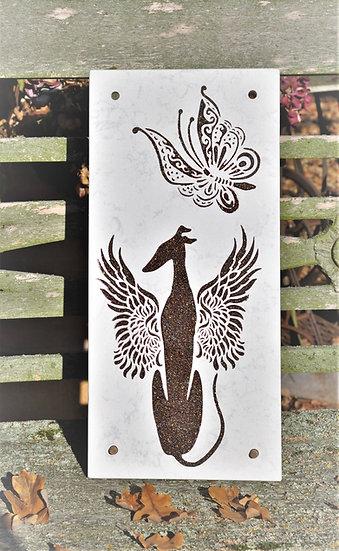 Windhund Engel, Galgoengel, Steinplatten für Windhunde