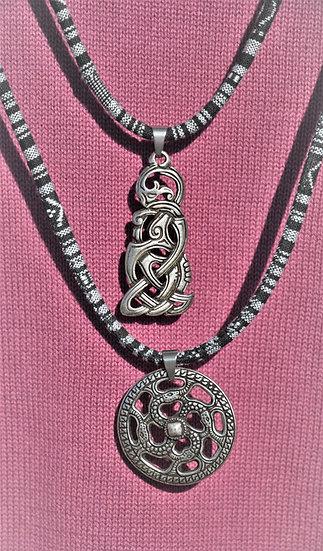 Tribal-Ketten, Mittelalter Amulett, Edelstahlketten, Schutz Amulette, orientalische Ketten