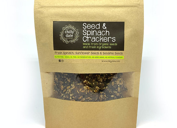Seed & Spinach Crackers