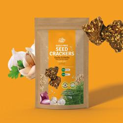 Garlic & Herbs - Guilt Free Seed Crackers