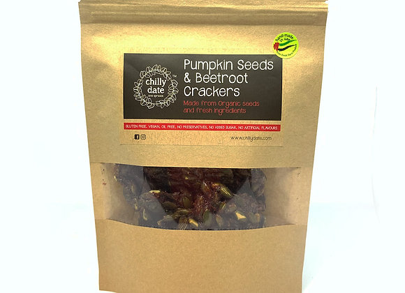 Pumpkin Seeds & Beetroot Crackers