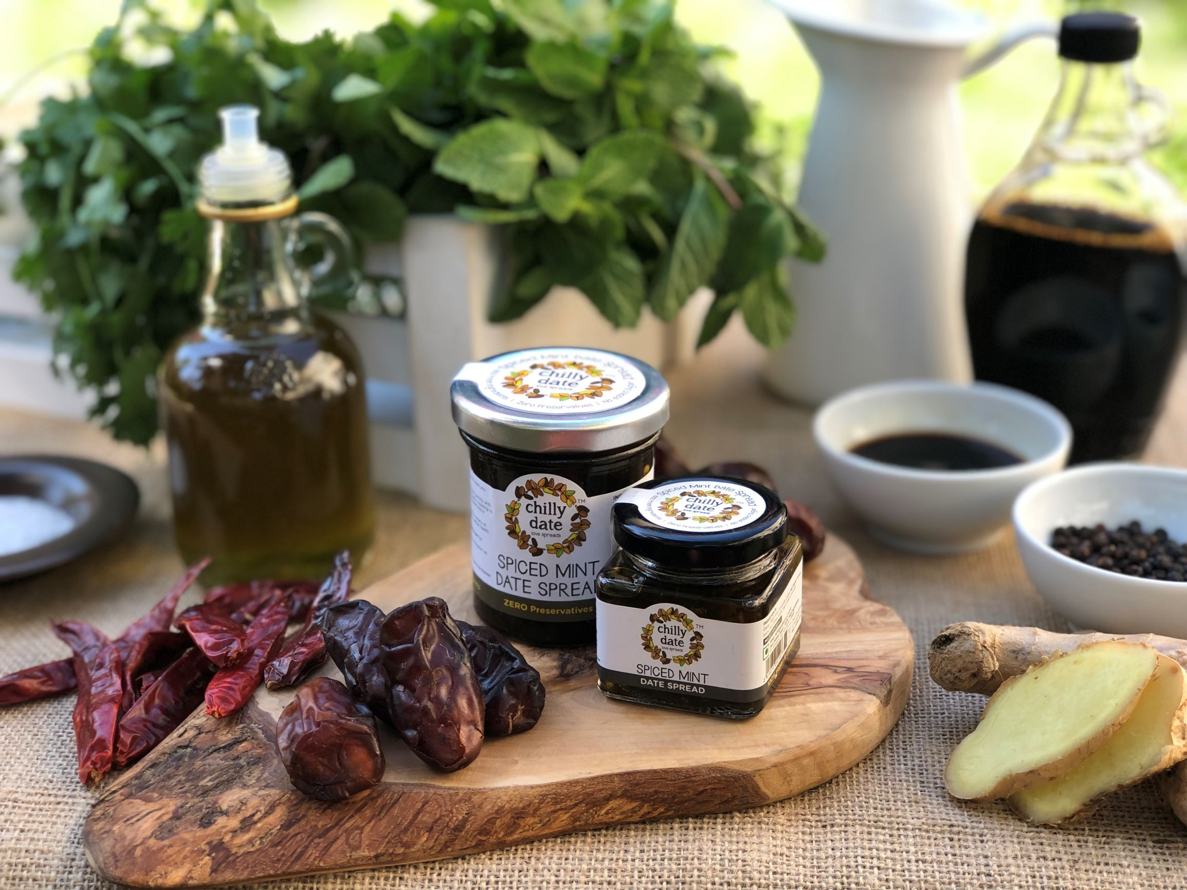 Spiced Mint Date Spread