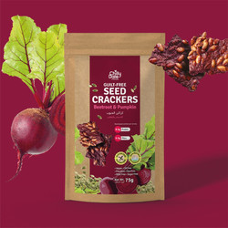 Beetroot & Pumpkin Seed Crackers